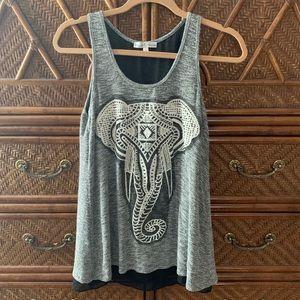 Embroidered Third-Eye Elephant Tank